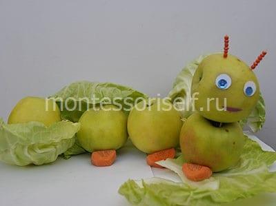 Осенняя поделка из яблок