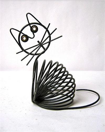 Кот из проволоки