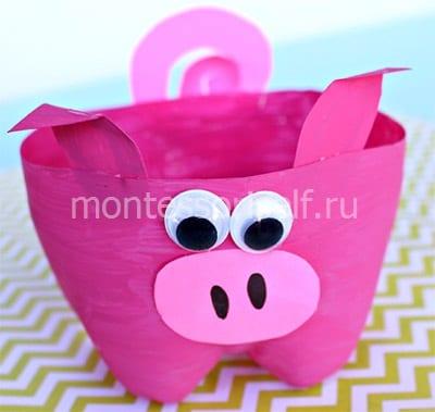 Свинка-подставка для конфет