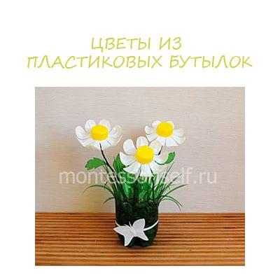 цветы из бутылок