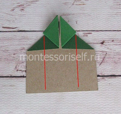 l12 Лягушка оригами из бумаги (которая прыгает): схема сборки для детей
