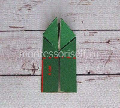 l13 Лягушка оригами из бумаги (которая прыгает): схема сборки для детей