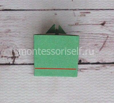 l14 Лягушка оригами из бумаги (которая прыгает): схема сборки для детей