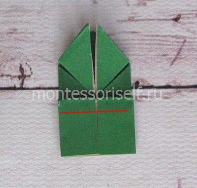 l15 Лягушка оригами из бумаги (которая прыгает): схема сборки для детей