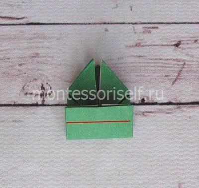 l16 Лягушка оригами из бумаги (которая прыгает): схема сборки для детей