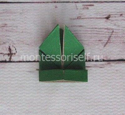 l17 Лягушка оригами из бумаги (которая прыгает): схема сборки для детей