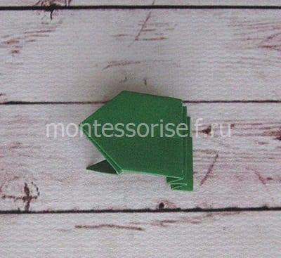 l19 Лягушка оригами из бумаги (которая прыгает): схема сборки для детей