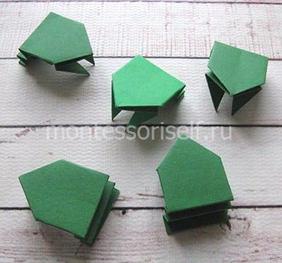 l21 Лягушка оригами из бумаги (которая прыгает): схема сборки для детей