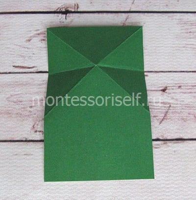 l8 Лягушка оригами из бумаги (которая прыгает): схема сборки для детей