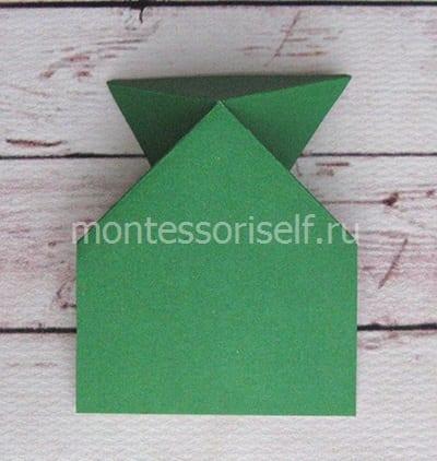 l9 Лягушка оригами из бумаги (которая прыгает): схема сборки для детей