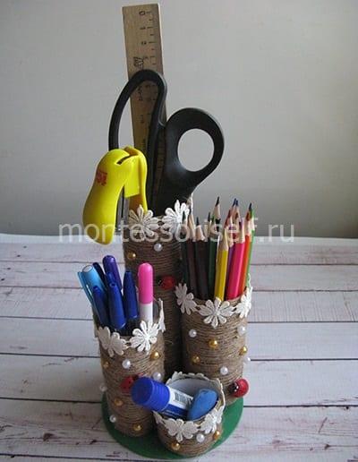 Карандашница из подручных материалов