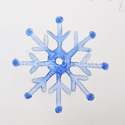 Раскрашиваем снежинку