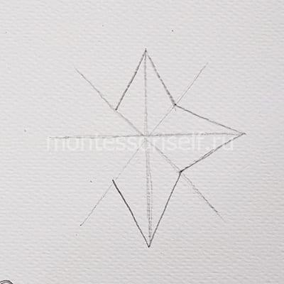 Рисуем шестиконечную звезду
