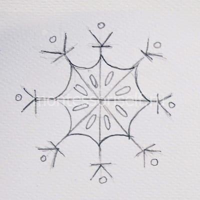 Набросок снежинки