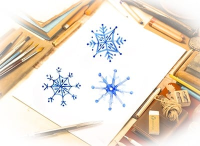 Рисунок снежинки для детей