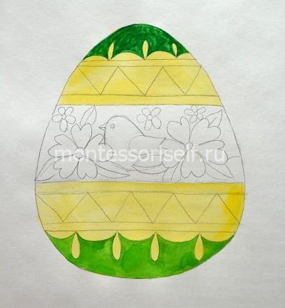 Раскрашиваем в зеленый цвет