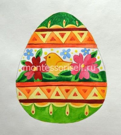 Рисунок пасхального яйца для детей