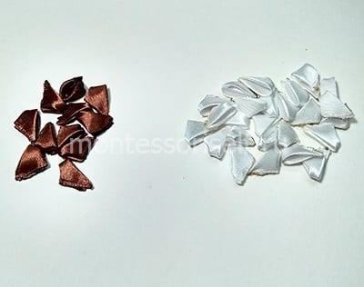 Обрабатываем белые и коричневые квадратики