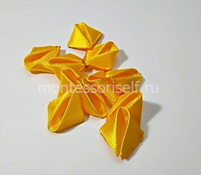 Обрабатываем все желтые треугольники