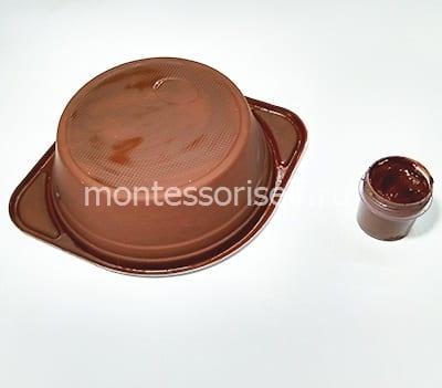 Окрашиваем тарелку