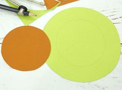 Коричневый и зеленый круг