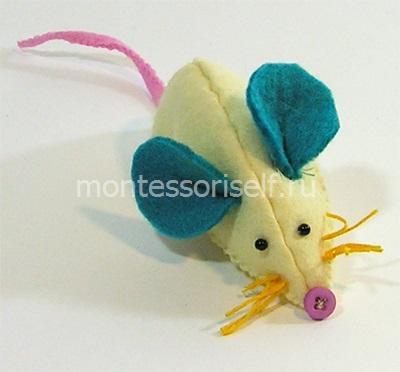 Мышка из фетра - символ 2020 года
