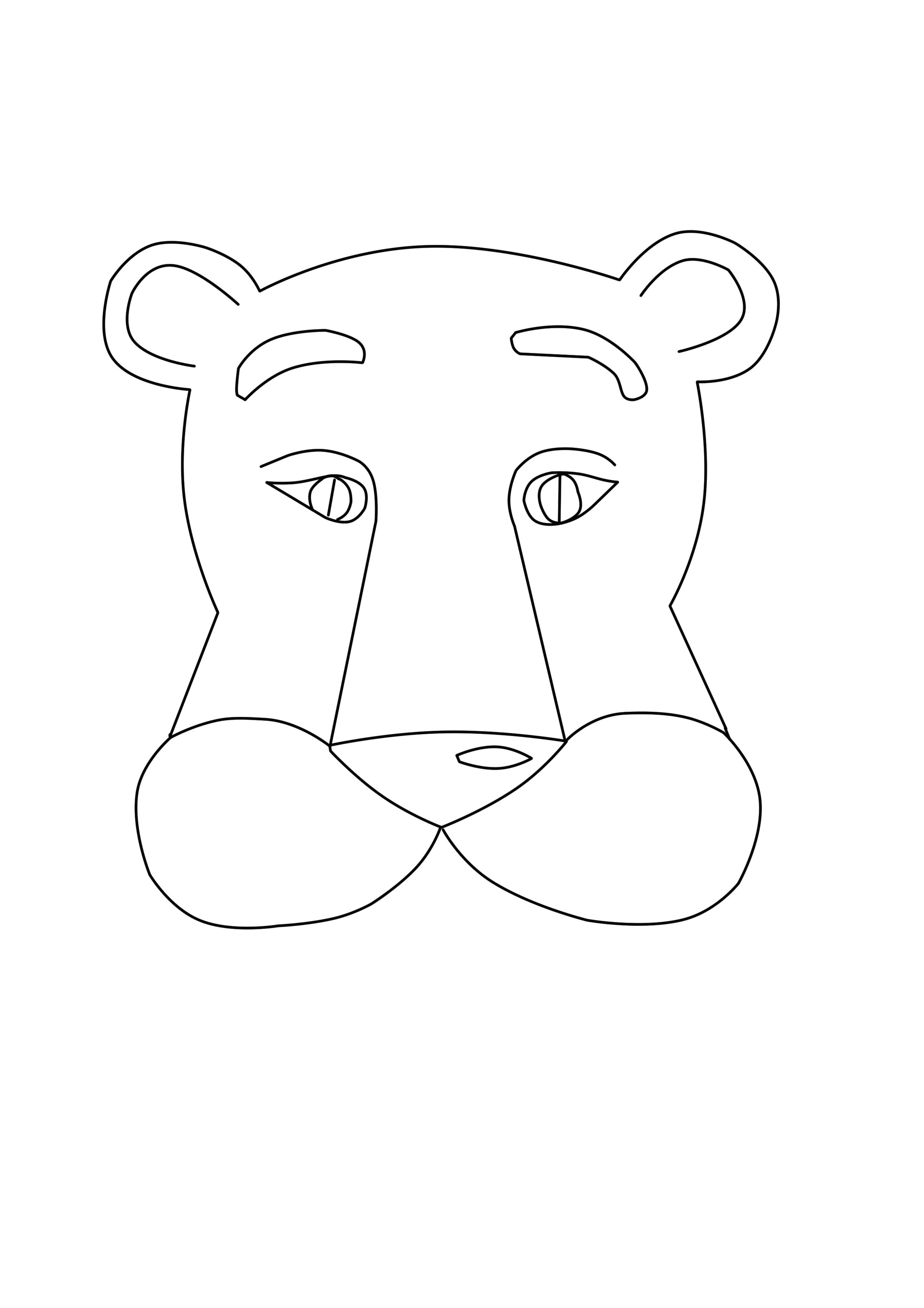 Лев (шаблон для распечатывания)