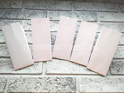 Пять бумажных заготовок