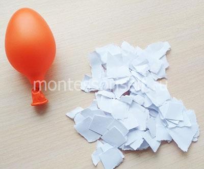 Разрываем листы бумаги