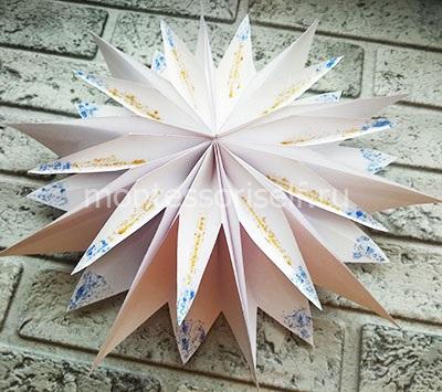 3D снежинка из бумаги своими руками 3