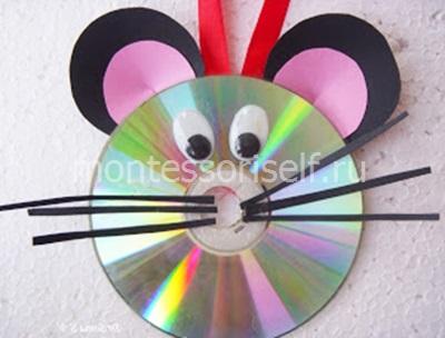 Мышь из CD-диска