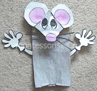 Мышки из бумажного пакета