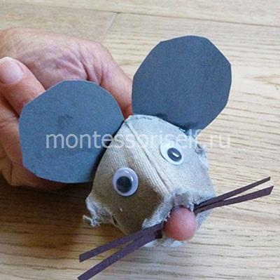 Мышь на пальчике