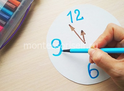 Рисуем цифры и стрелочки