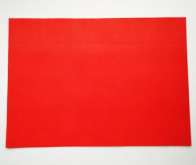 Лист красной бумаги