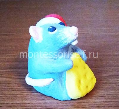 Мышь из соленого теста своими руками