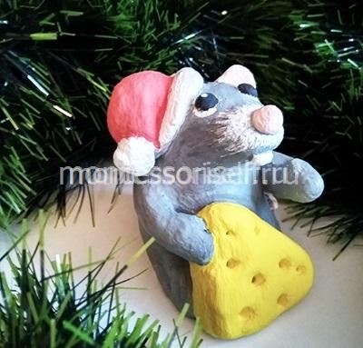 Мышь из соленого теста своими руками фото.