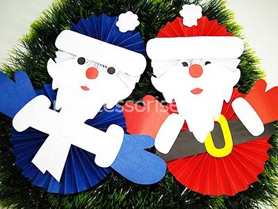 Дед мороз из бумаги шаблоны для вырезания