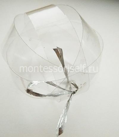 Закрепляем пластиковые полоски