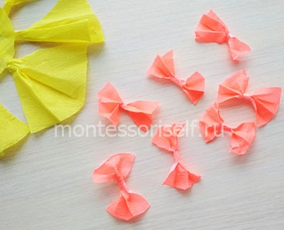 Бантики из бумаги