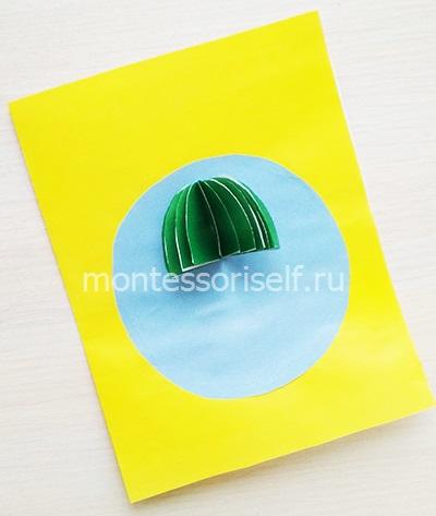 Объемный парашют из бумаги