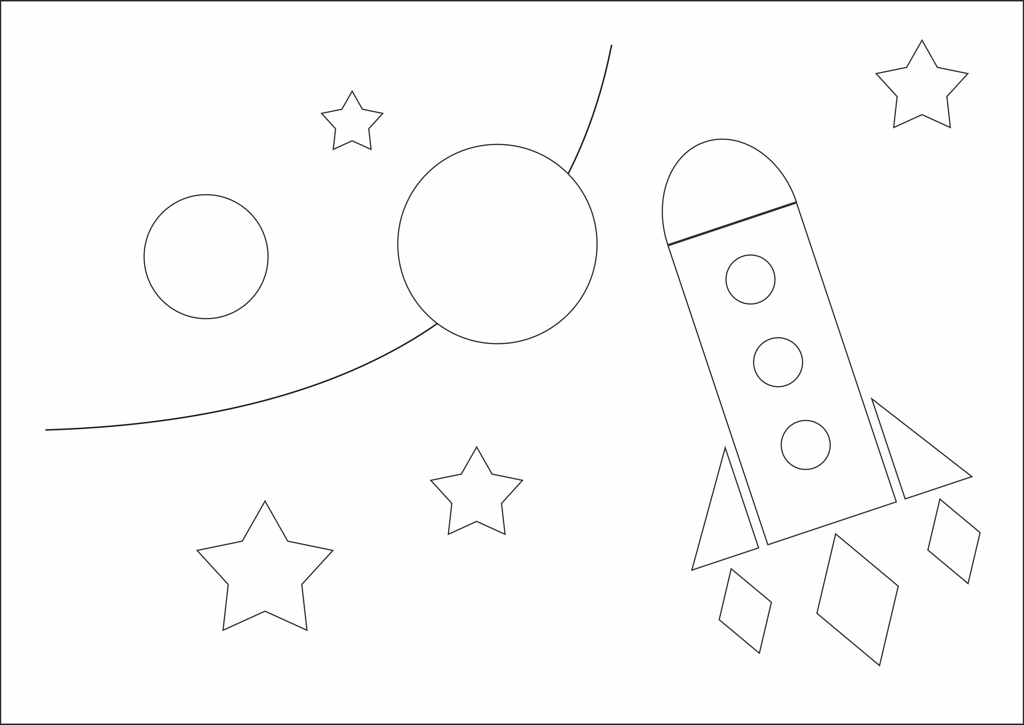 """Раскраска из геометрических фигур""""Космический полет"""""""