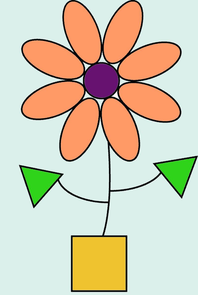 "Рисунок из геометрических фигур ""Цветок"""
