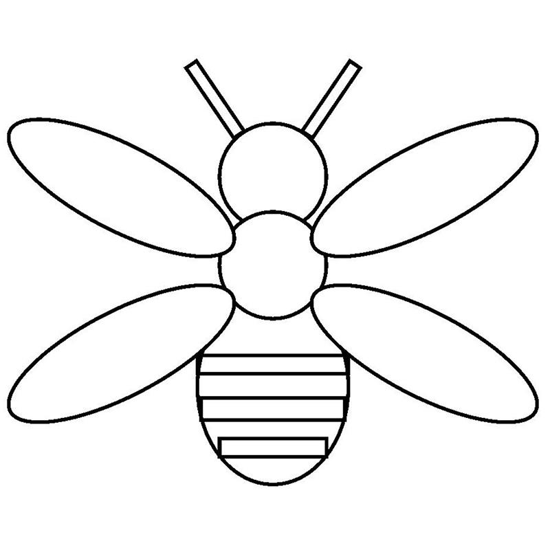 Пчелка из геометрических фигур