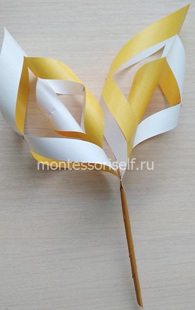 Крепим желтые части