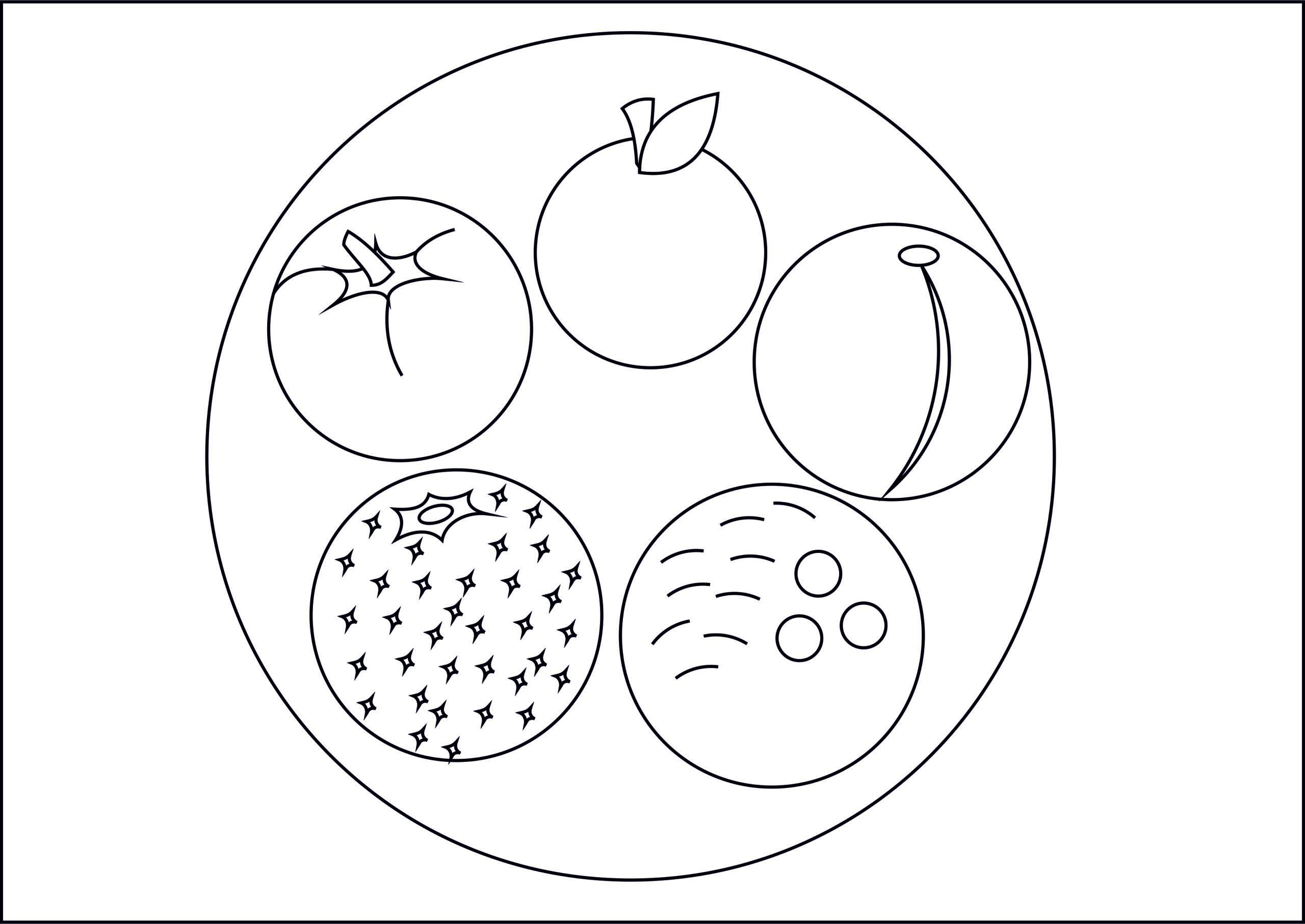 "Раскраска из кругов ""Вкусная тарелка"""