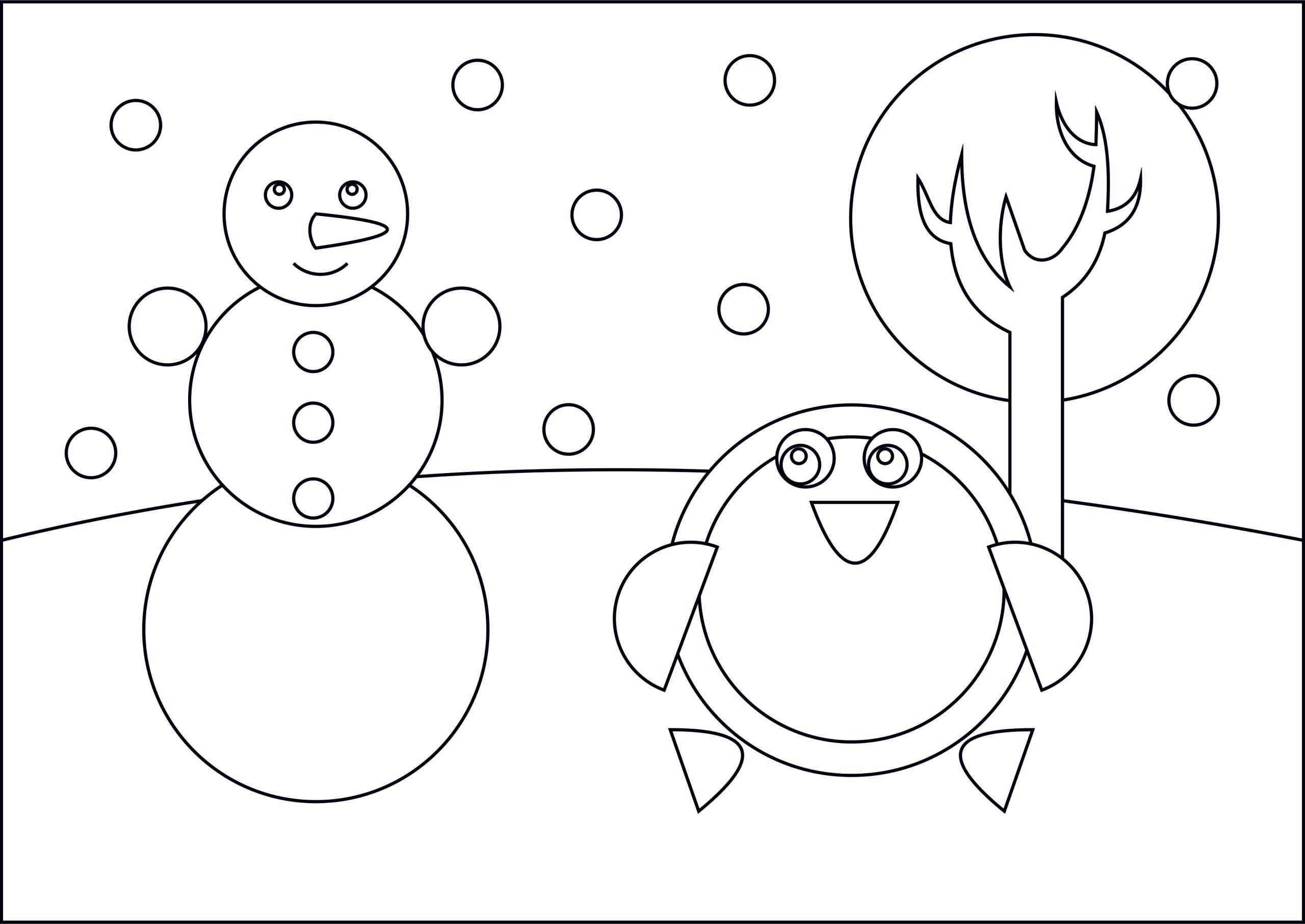"Раскраска из кругов ""Зима"""