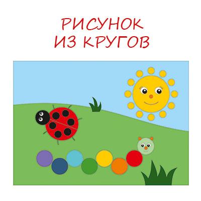Рисунок из кругов для детей: 1 класс, 2 класс (картинки и раскраски)