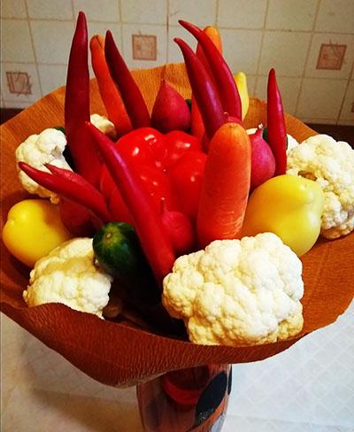 Букет из овощей своими руками 1