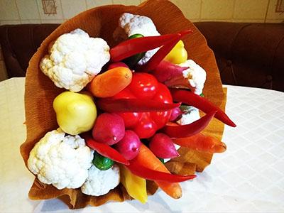 Букет из овощей своими руками 2